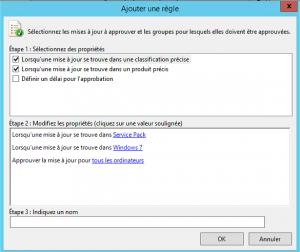 Approuver certaines classifications d'un ou plusieurs produits - Service pack pour Windows 7 approuvé automatiquement